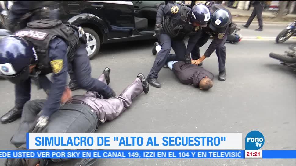 Simulacro, Alto,, Secuestro, Ciudad de México, cdmx