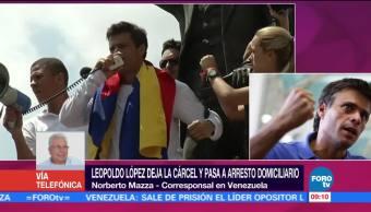 Leopoldo López, deja la cárcel, arresto domiciliario, Norberto Mazza