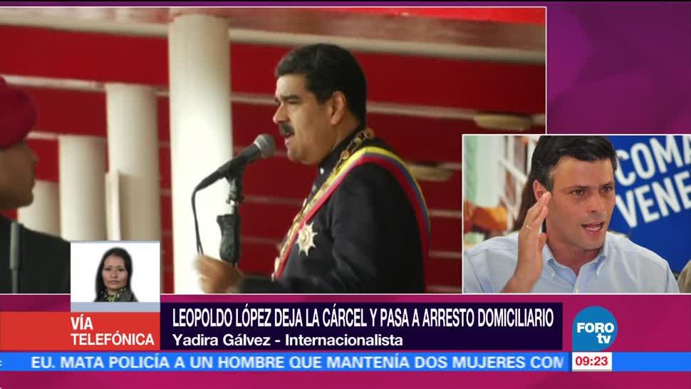 Maduro, arresto domiciliario, Leopoldo López, Yadira Gálvez