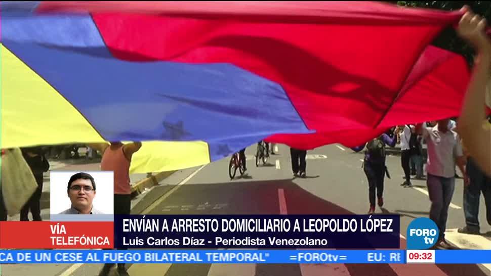Leopoldo López, preso en casa, Luis Carlos Díaz, periodista venezolano