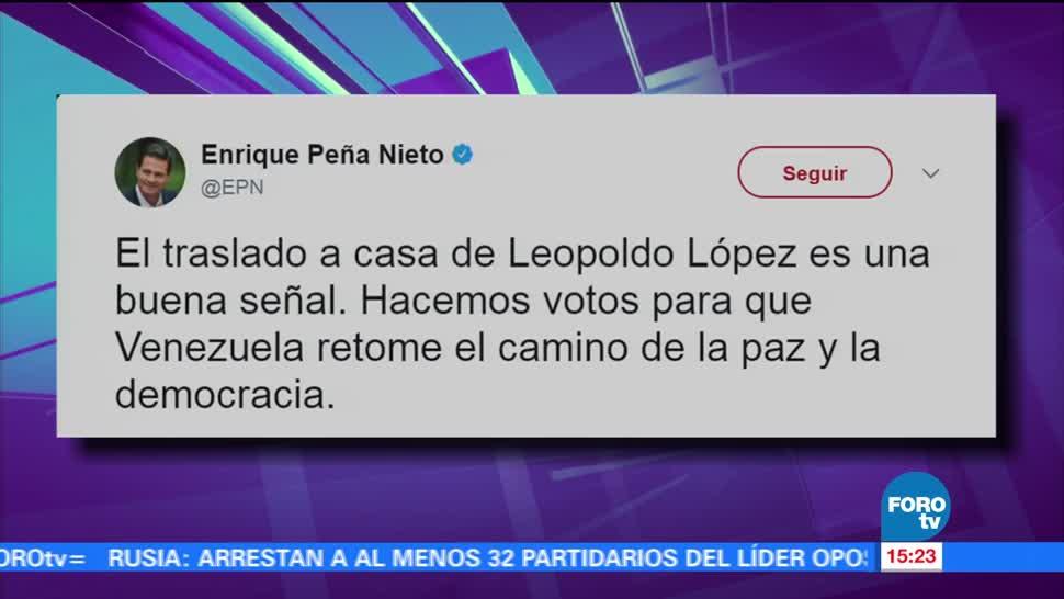 Enrique Peña Nieto EPN, comenta, arresto domiciliario, Leopoldo López