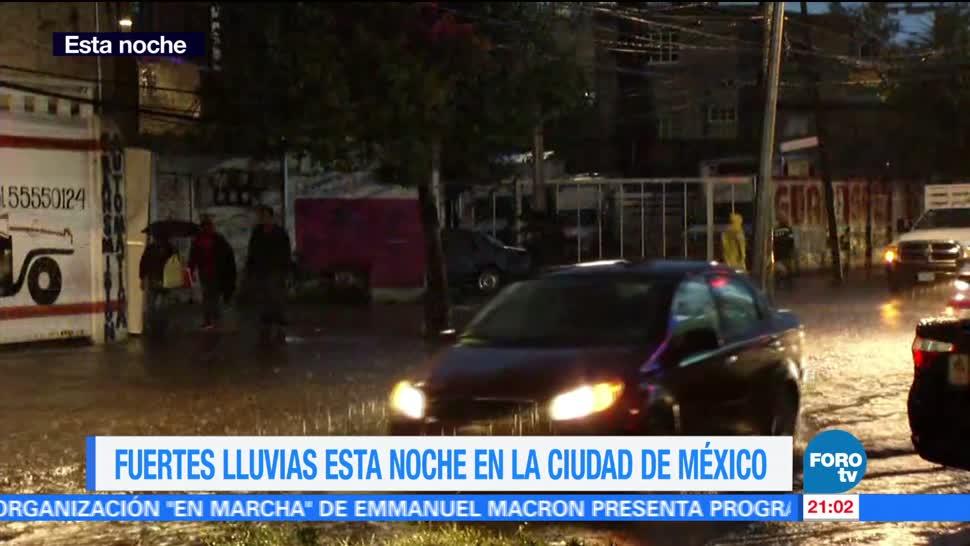 CDMX, afectada, fuertes, lluvias, afectaciones, inundaciones