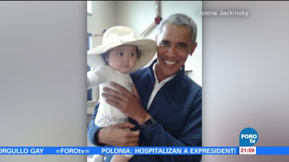 Obama, carga bebé, toman foto, viral, redes sociales, entretenimiento
