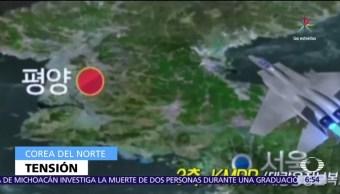Norcorea, maniobras militares, Surcorea, Estados Unidos, fin de semana