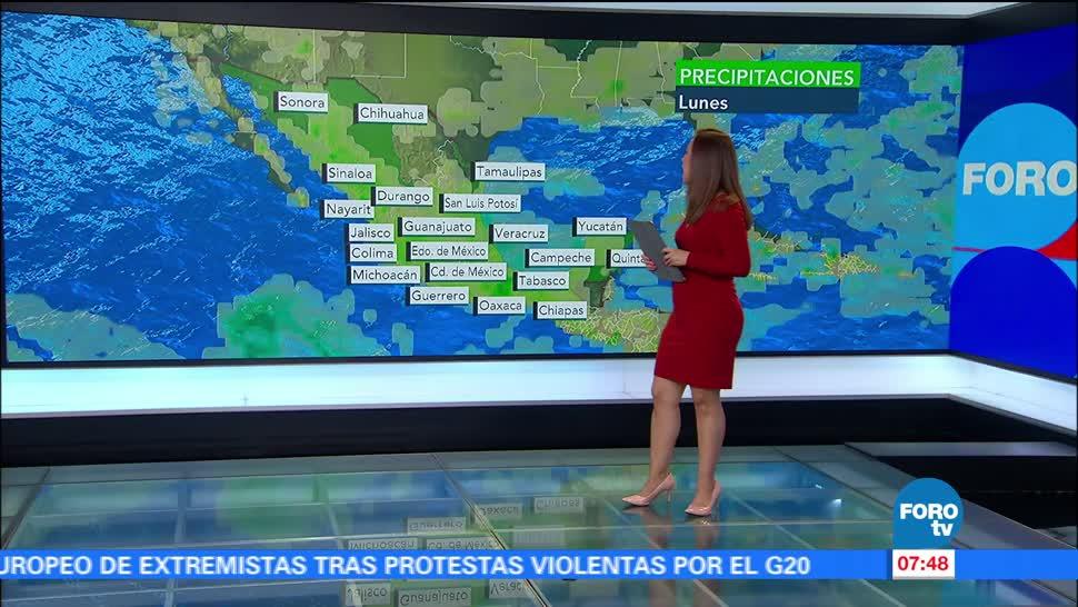 onda tropical, lluvias, Ciudad de México, grados centígrados