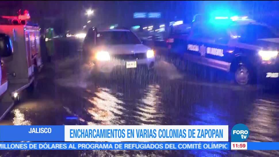 lluvias torrenciales, Zapopan, Jalisco, afectaciones, varias colonias