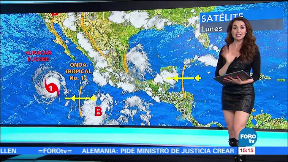 El clima, Mayte Carranco, Eugene, huracán categoría uno