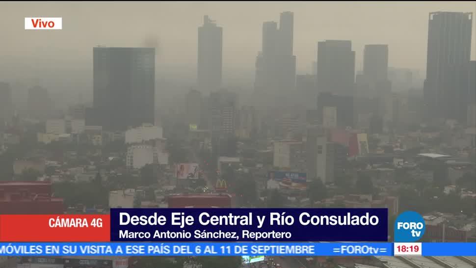 Lluvia intensa, centro, CDMX, Ciudad de México