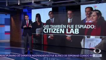 Citizen Lab, espionaje, expertos del GIEI, software Pegasus, normalistas