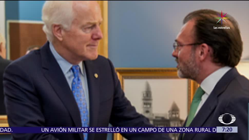 canciller de México, Luis Videgaray, Washington, renegociación del TLC