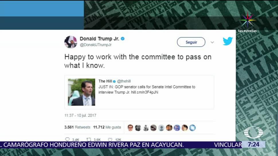 Casa Blanca, supuestas reuniones, Donald Trump Jr, abogada rusa