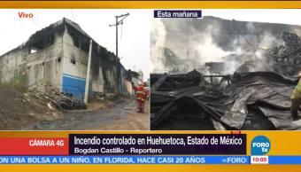 No hubo lesionados, incendio en fábrica, Huehuetoca, Estado de México, trabajadores