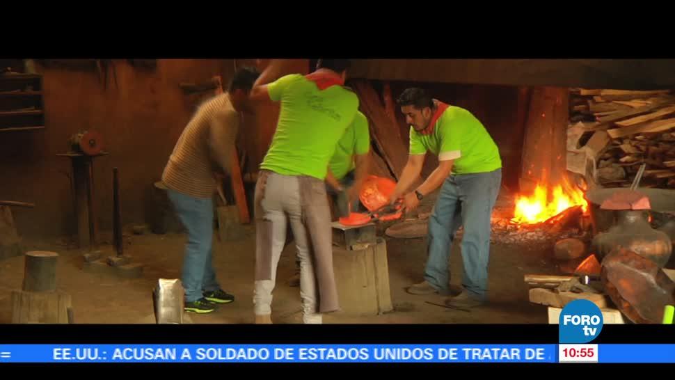 pueblo de Santa Clara, Santa Clara del Cobre, Michoacán, nivel internacional, trabajo artesanal