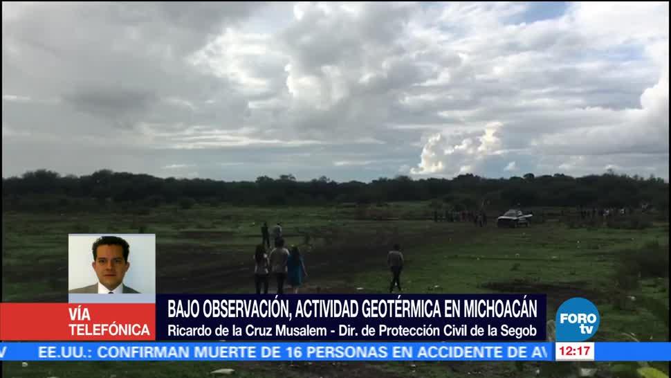 Ricardo de la Cruz Musalem, Protección Civil, actividad geotérmica, Michoacán