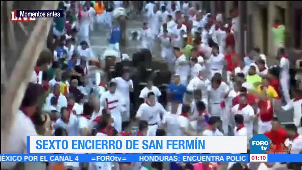 noticias, forotv, Sexto, encierro de San Fermín, veloz, accidentado