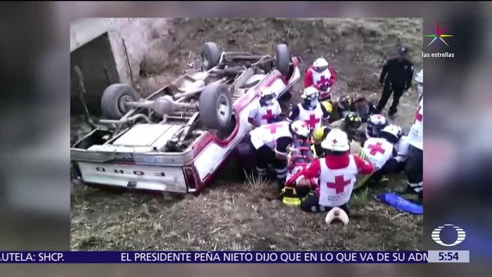 noticias, televisa, Volcadura, camioneta en Zacatecas, 17 heridos, municipio de Guadalupe