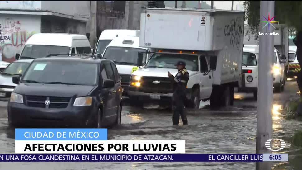 noticias, televisa, Lluvias, CDMX, causan, accidentes vehiculares