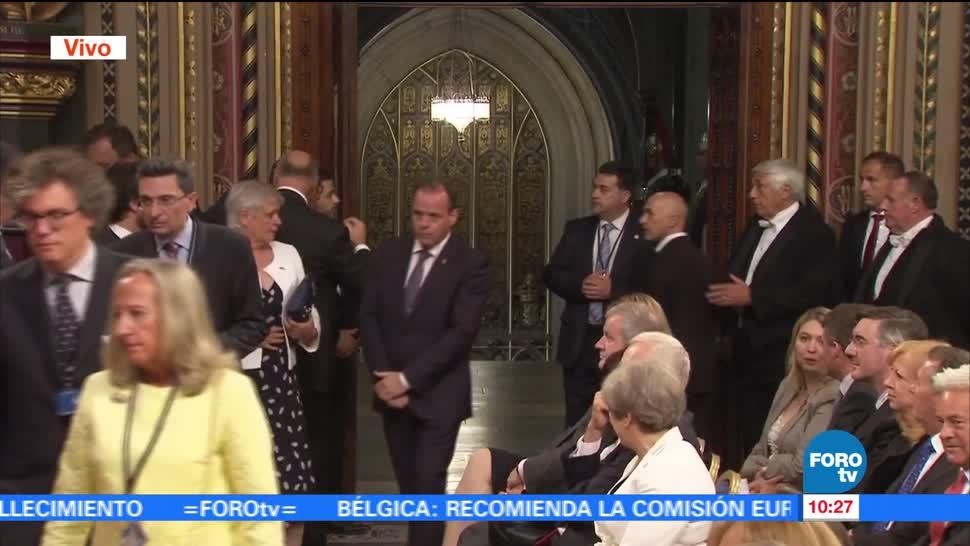 El rey de España, Felipe VI, pronuncia un discurso, Parlamento británico