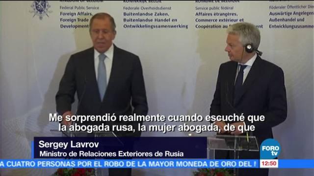 Sorprende, ministro de Relaciones Exteriores de Rusia, Serguéi Lavrov, polémica sobre el hijo de Trump