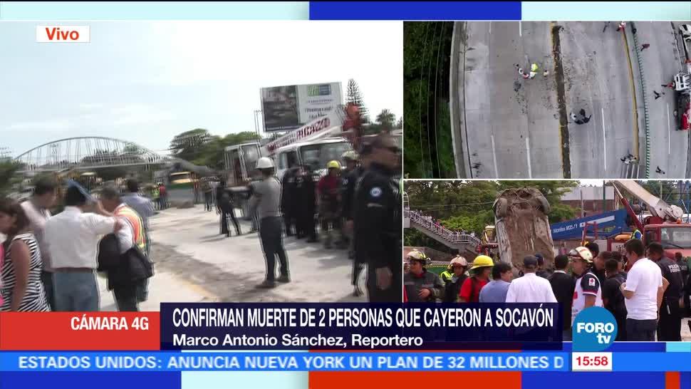 noticias, forotv, Confirman, muerte, dos personas, cayeron a socavón