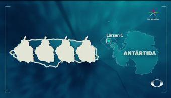 Desprendimiento, iceberg, gigante, antártida, consecuencia, cambio climático