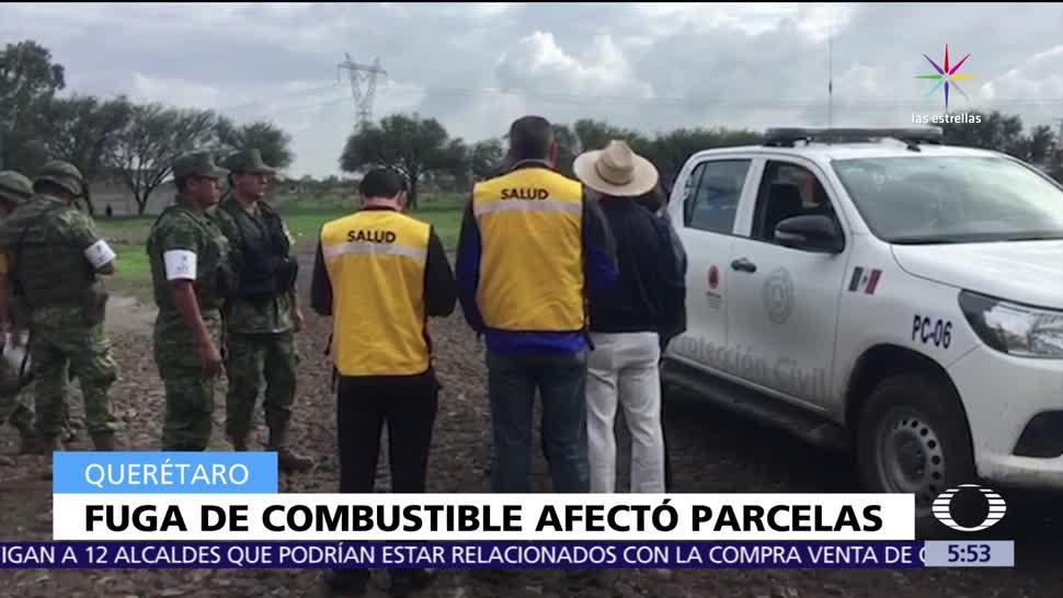 noticias, televisa, Fuga de combustible, Querétaro, causa desalojo, habitantes