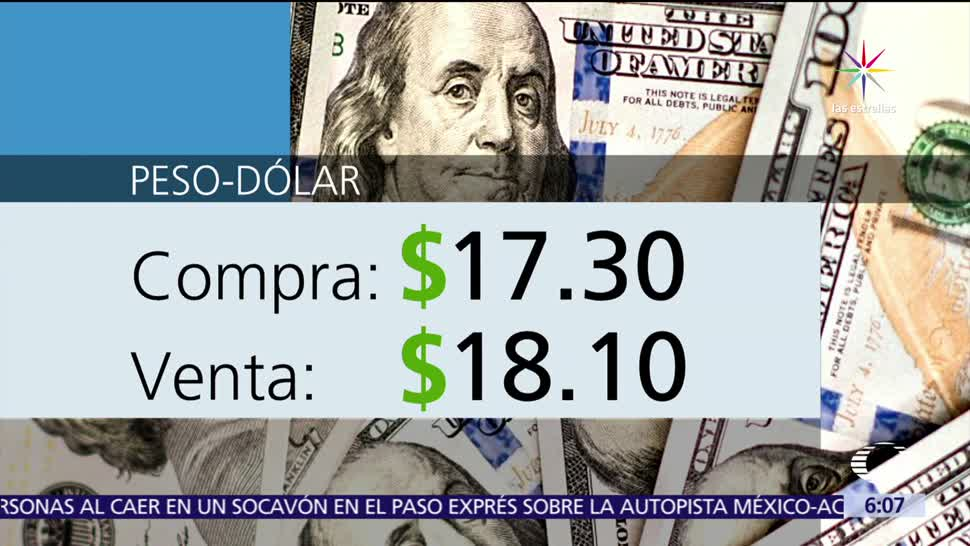 noticias, televisa, El dólar, vende, 18.10, peso