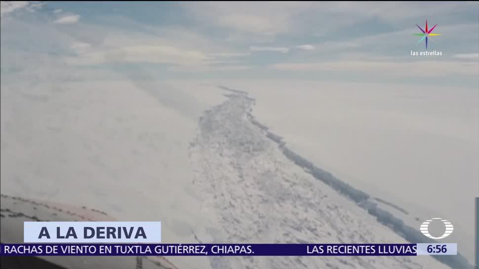 noticias, televisa, Se desprende, iceberg gigante, Antártida, iceberg