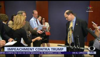 noticias, televisa, Demócrata, presenta moción, abrir juicio político, Trump