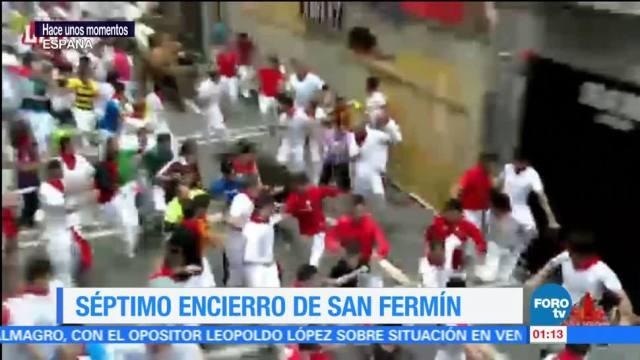 noticias, forotv, Séptimo, San Fermín, rápido, heridos por asta