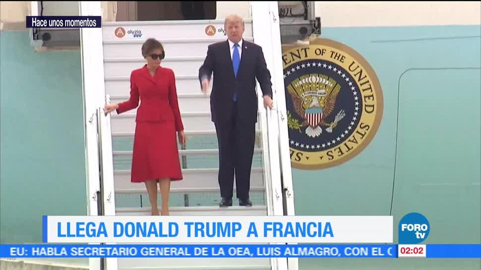 noticias, televisa, Llega, Donald Trump, Francia, Melania