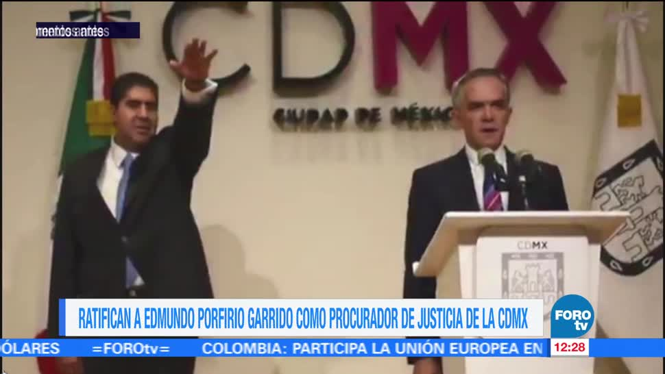 noticias, forotv, Edmundo Garrido, ratificado, procurador de Justicia, CDMX