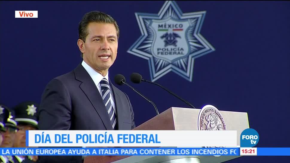 EPN, destaca, labor, Policía Federal, día, pf