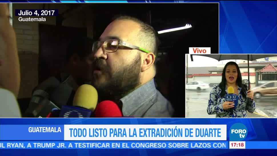 Confirman, extradición, Javier Duarte, lunes, PGR, Guatemala