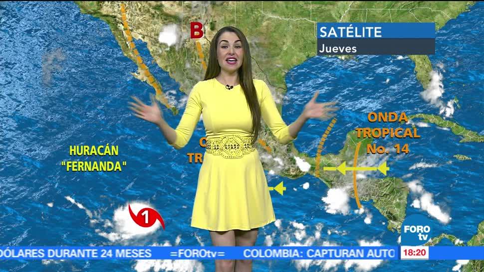 El Clima, condiciones climatológicas, Mayte Carranco, viernes, lluvias, calor