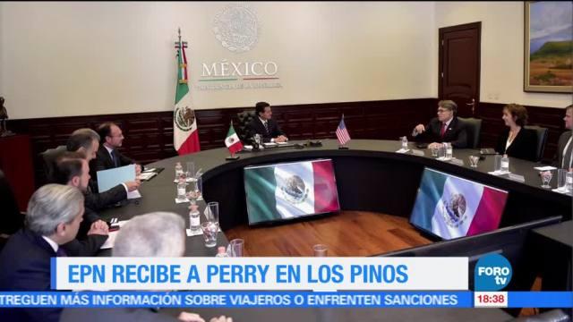 EPN, recibe, secretario de Energía, Estados Unidos, Rick Perry, Los Pinos