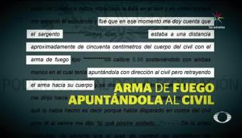 Palmarito, Juez justifica disparos, militar contra civil
