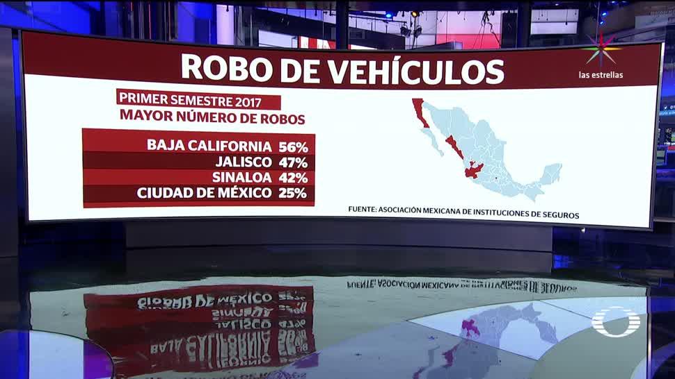 Cada hora, roban 10 autos, asegurados en México