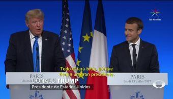 Escándalo, persigue, Trump, París