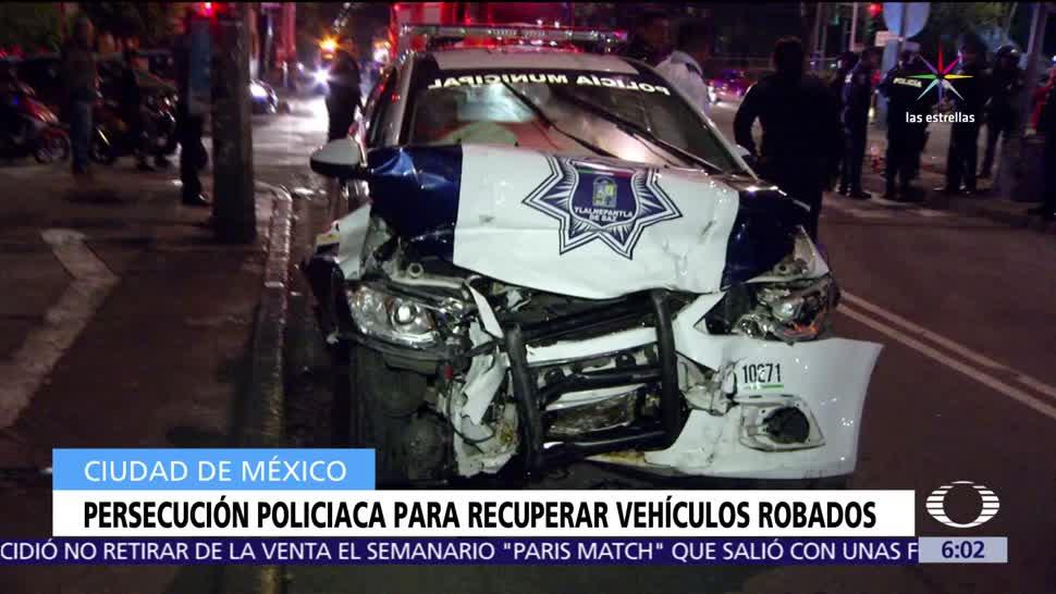 notcias, televisa, Se registran, movilizaciones policíacas, recuperar vehículos robados, CDMX