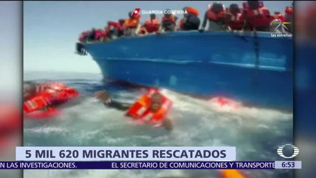 noticias, televisa, Suman, 80 mil, migrantes rescatados, Mediterráneo