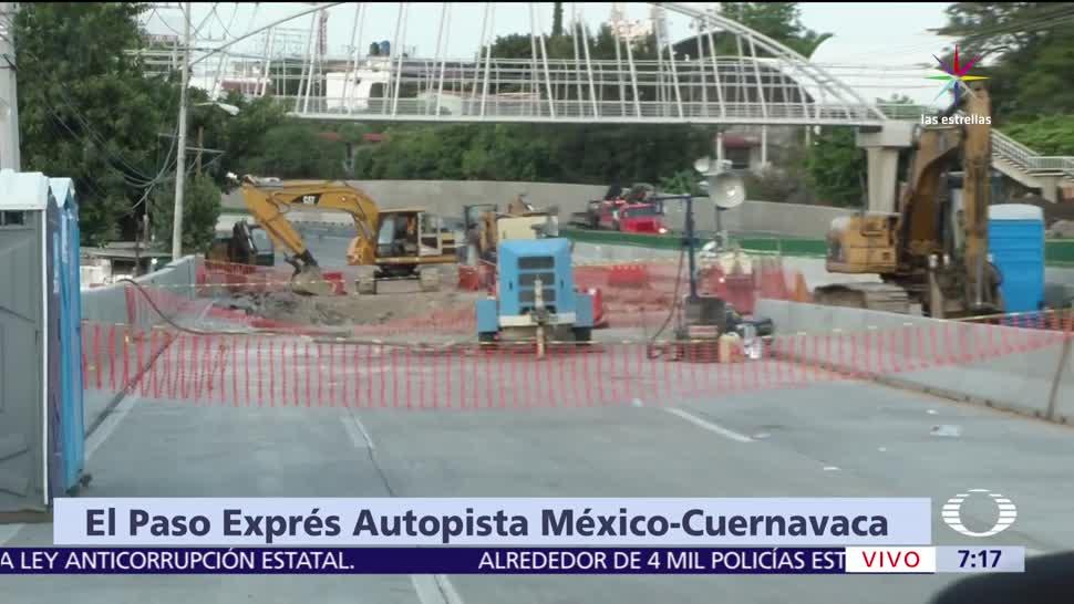 noticias, televisa, SCT, prohíbe paso, camiones de carga, Paso Express