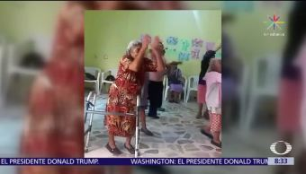 noticias, teelvisa, Abuelos, bailan zumba, Santo Domingo Tonalá