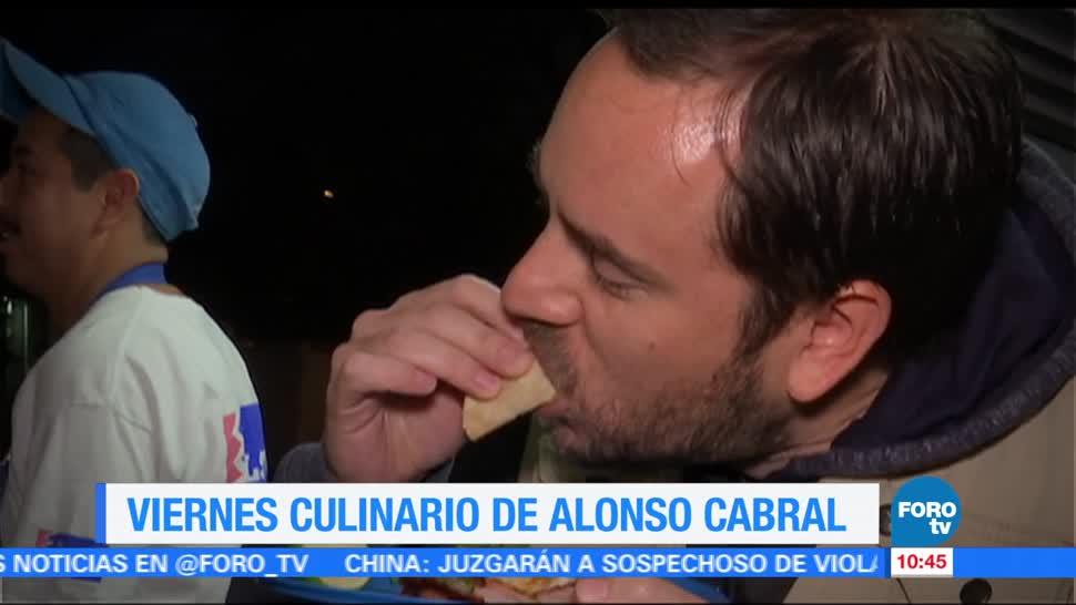 noticias, forotv, Viernes culinario, Alonso Cabral, tacos, viernes