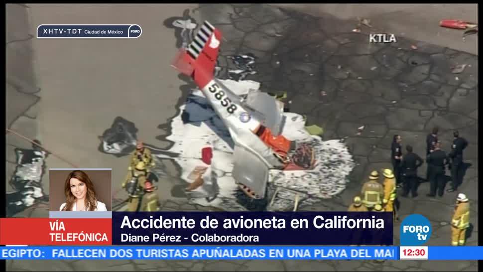 noticias, forotv, Autoridades, investigan, accidente de avioneta, California