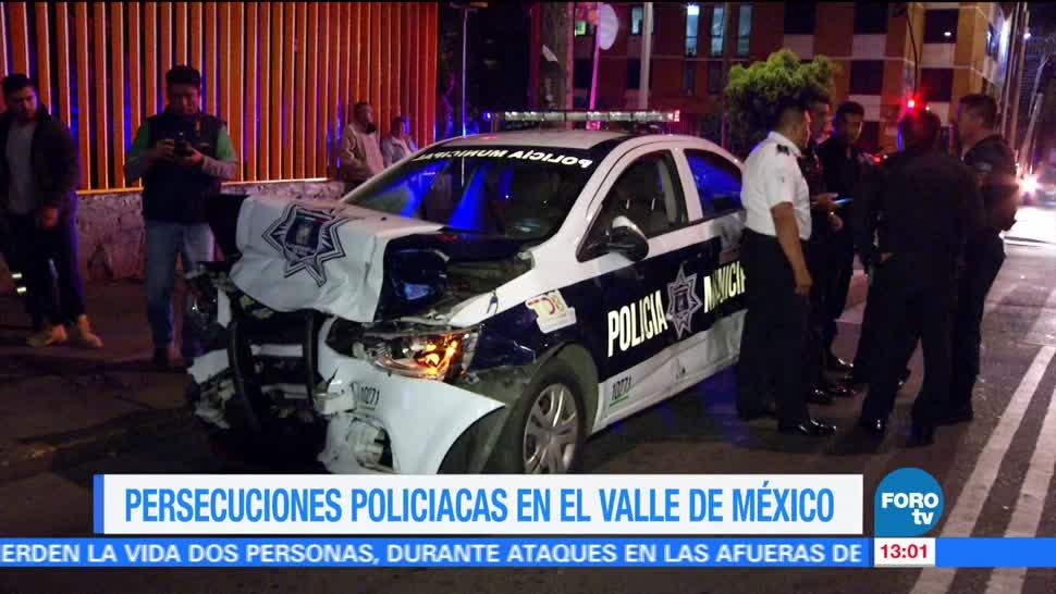 noticias, forotv, Dos persecuciones, Valle de México, varios lesionados, madrugada