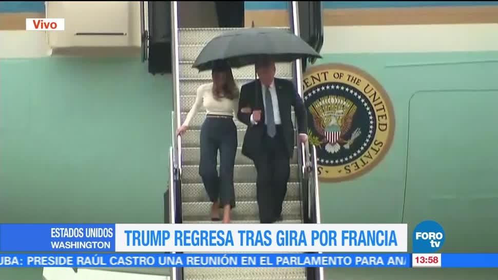 presidente de Estados Unidos, Donald Trump, regresa a unión americana, gira por Francia