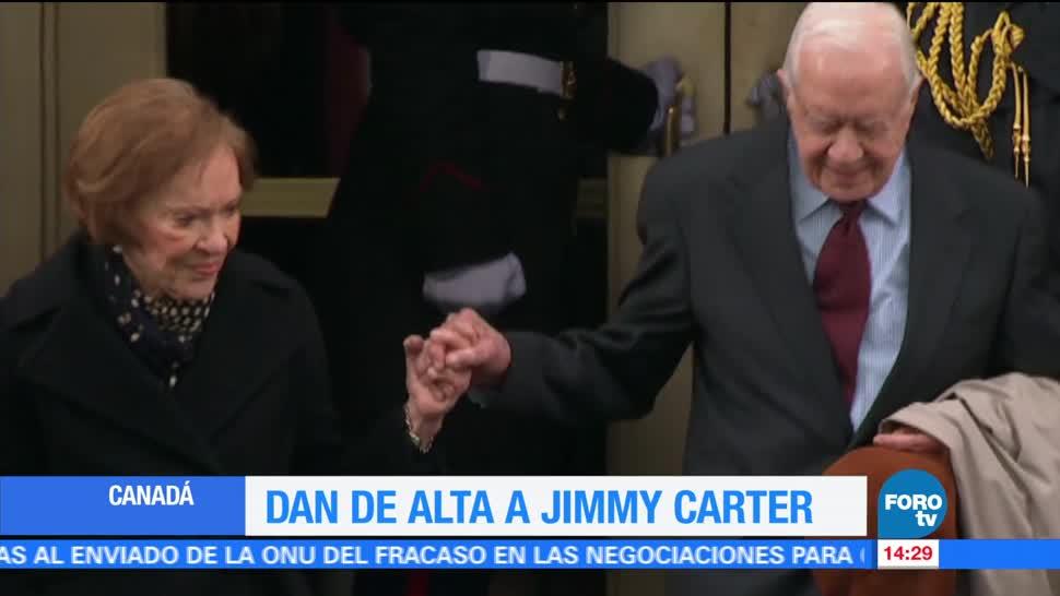 expresidente, Jimmy Carter, hospitalizado, deshidratación