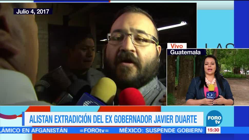 Duarte, Autoridades de Guatemala, próximo lunes, extradición de Javier Duarte