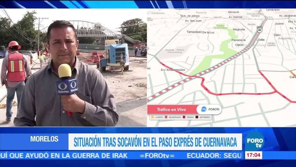 Cierre, Paso Express en Cuernavaca, complica, vialidad
